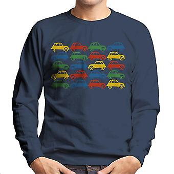 Citro?n 2CV Vintage Multi Colour Pattern Men's Sweatshirt