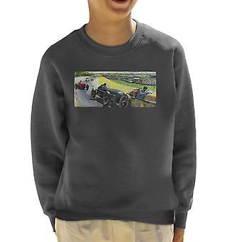 De Saturday Evening Post Vintage Race Car Peter Helck Kid's Sweatshirt