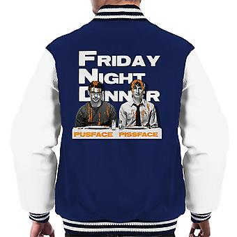 Friday Night Dinner Pusface And Pissface Men's Varsity Jacket