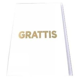 Grattiskort kirje kuoret valkoinen, kulta teksti 13x19 cm