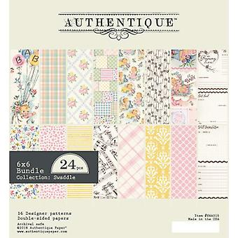 Authentique Swaddle Girl 6x6 pulgadas de papel Pad