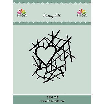 Dixi Craft Heart Grid Metal Die