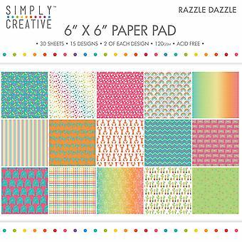 Yksinkertaisesti Creative 6x6 tuuman paper pad razzle dazzle