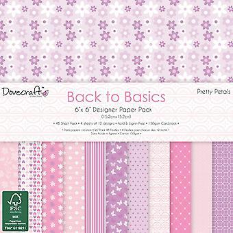 Dovecraft Retour à l'essentiel Pretty Petals 6x6 Inch Paper Pack