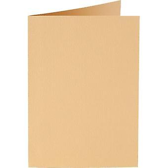 Papicolor 6X بطاقة مزدوجة A6 105x148 مم الكراميل