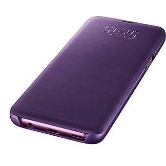 Official Samsung Galaxy S9 LED View Flip Cover Case - Violet