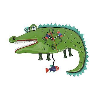 Allen Designs Later Gator Alligator Wall Mounted Pendulum Clock