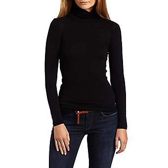Splendid Women-apos;s 1X1 Long Sleeve Turtleneck Top,Black,Medium