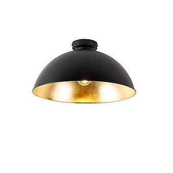 Lampada a soffitto a soffitto nera con oro 42 cm regolabile - Magnax