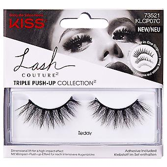 Kiss Lash Couture Triple Push-up Collection Reusable False Eyelashes - Teddy