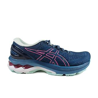 Asics Gel-Kayano 27 Mako Blue/Pink Mesh Womens Lace Up Running Trainers
