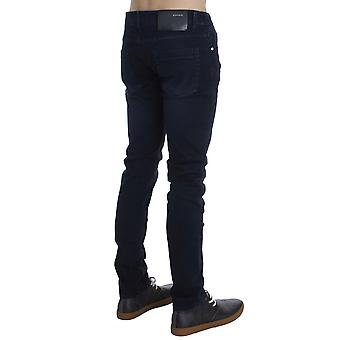 ACHT Dark Blue Cotton Stretch Slim Skinny Fit Jeans SIG30487-1