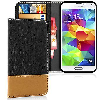 Wallet Case Case Case for Samsung Galaxy S5 Magnet Shockproof Mobile Shell Leatherette