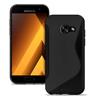 Mobile PhoneShell In voor Samsung Galaxy A3 (2017) TPU Ultra Thin Patterned Black