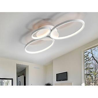 Integrated LED 3 Light Flush Ceiling Light White