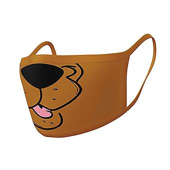 Scooby Doo Triple Layer Cotton Fabric Face Mask 2PK