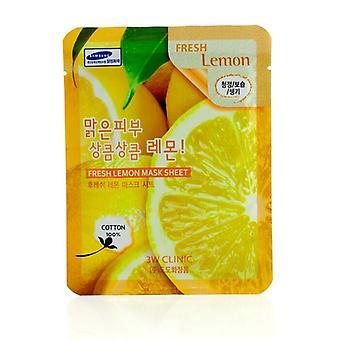 3W Klinik Maske Blatt - frische Zitrone 10pcs