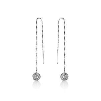 Ania Haie Sterling Silver Rhodium Plated Deus Threader Earrings E009-02H