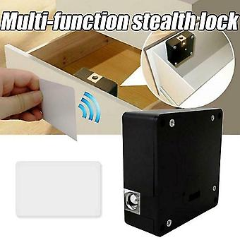 Smart Electronic Hidden Rfid Cabinet Furniture Lock (black)