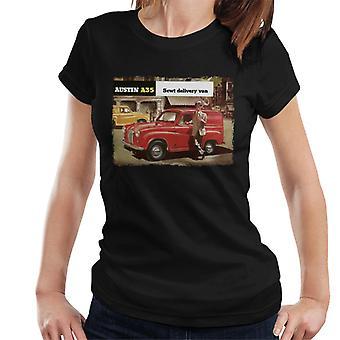 Austin A35 5cwt Delivery Van British Motor Heritage Women's Camiseta