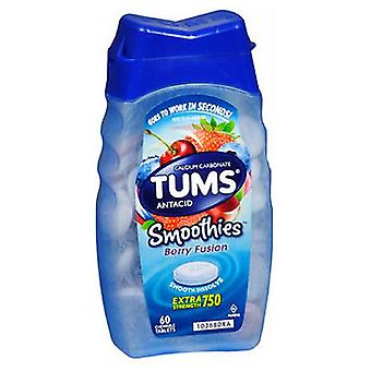 The Honest Company Tums Smoothies Antacid And Calcium Supplement Chewable, 60 tabs