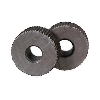 2PCS 1mm Pojedyncze proste, grube liniowe koło knurlingowe do obróbki metali