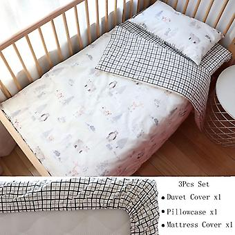 Baby Bedding Set For, Nordic Cotton Kids Bed Linen Cot Kit, Crib For Newborns