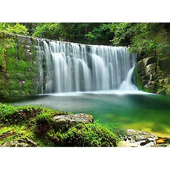 Fond d'écran Mural Emerald Lake Waterfalls