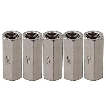 5pcs Plating Solid Brass 1/4inch BSPP Female Full Ports One Way Air Check Valve