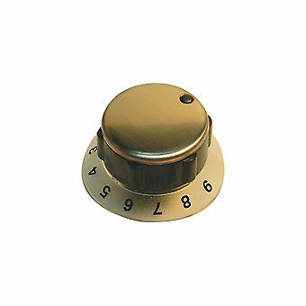 Zanussi Stainless Steel and Black Hob Control Knob
