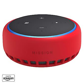 Mission skin for amazon echo dot (3rd generation), candy red