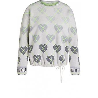 Oui Heart Design Jumper