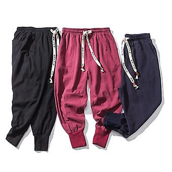 Autumn Cotton Sweatpants Gyms Fitness Workout Solid Trousers Male Casual