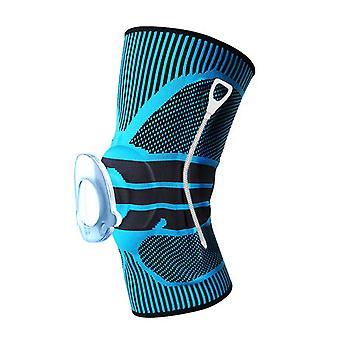 Support de ressort de pression de sport extérieur Nylon Silicone Knitting Knee Protector