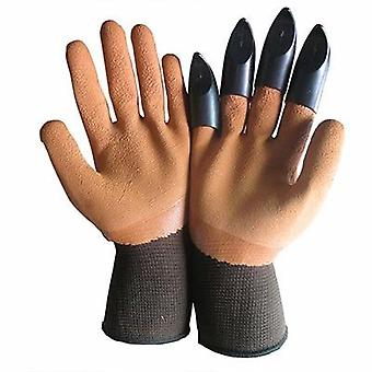 Abs Plastic Garden Gloves With Claws For Digging And Planting