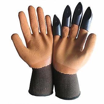 Abs Kunststoff Garten Handschuhe mit Krallen zum Graben und Pflanzen
