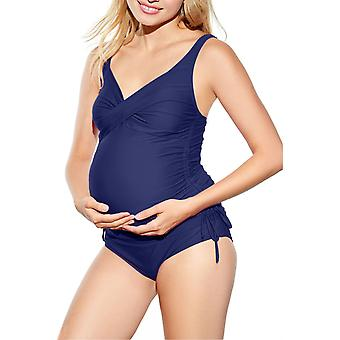 Ruched Maternity Tankini Swimsuit