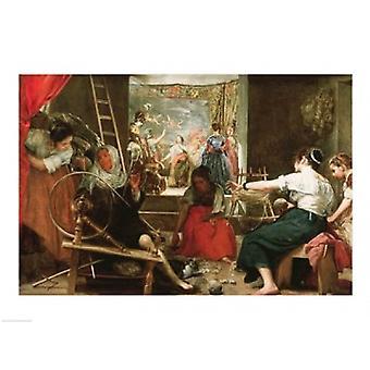 Spinnere plakat Print af Diego Velazquez