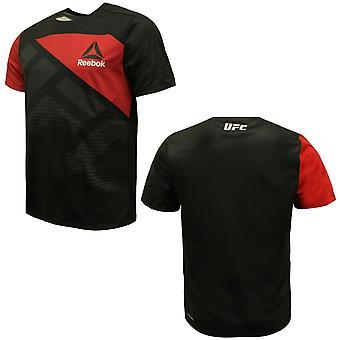 リーボック メンズ UFC FKブランクジャージージムトレーニングTシャツブラック AZ9019 A19D