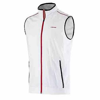Head Club Zip Up Vest Gilet Sports Training Top Jacket Mens White 811675 A13B