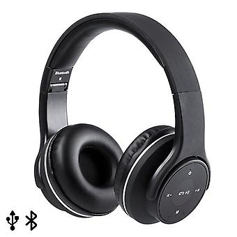 Collapsible diadem headphones with Bluetooth FM 6W Black