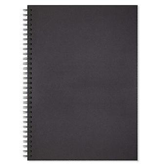 Artgecko schaduwrijke schetsboek (a3 portret) - 80 pagina's (40 vellen) 200gsm zuur vrije zwarte kaart a3 portra