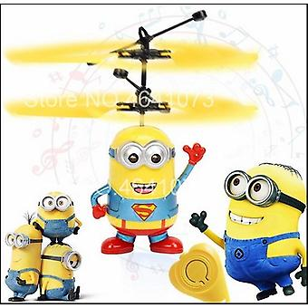 Minion Drone Rc Helicopter Aircraft Mini Fly Flashing Hand Control (01box