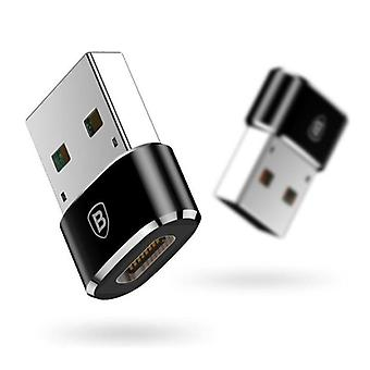 Baseus USB to Type C Adapter Converter - USB-C Female / USB Male - 2.4A Fast Charging and Data Transfer