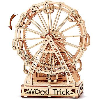 Wood Trick Ferris Wheel Toy Mechanical Model, Observation Wheel - 3D Wooden Puzzle, Eco Wooden Toys