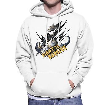 King Kong Vs T Rex Fight To Survive Men's Hooded Sweatshirt