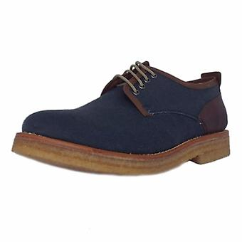 Chatham Embassy Men's Canvas Derby Shoe In Navy