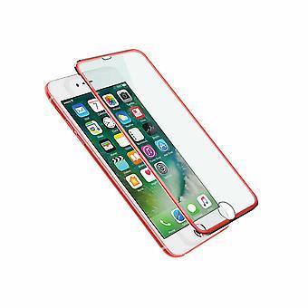 Aquarius 3D Metal Tempered Screen Protector For iPhone 6/7/7+ - Red