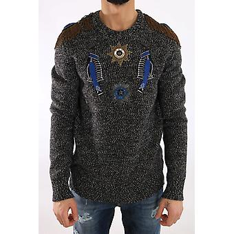 Maglione in cashmere Dolce & Gabbana Gray Wool