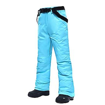 Pantalones de esquí hombres y mujeres, pantalones de nieve impermeables impermeables a prueba de viento al aire libre